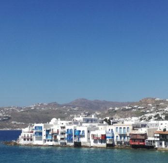 Beautiful Little Venice, one of the most cosmopolitan areas in Mykonos, loved by so many visitors.